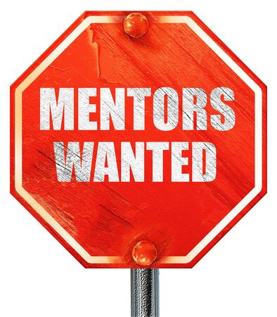 mentors: mentors wanted, 3D rendering, a red stop sign