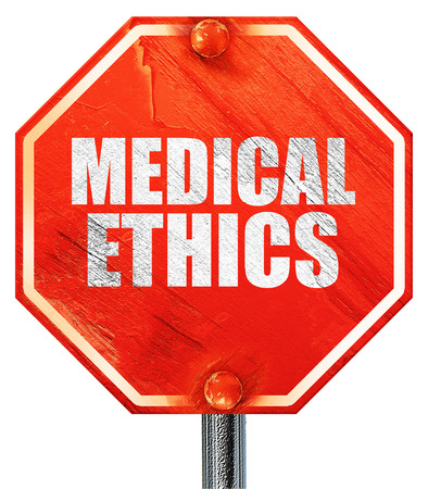 medicaid: medical ethics, 3D rendering, a red stop sign Stock Photo