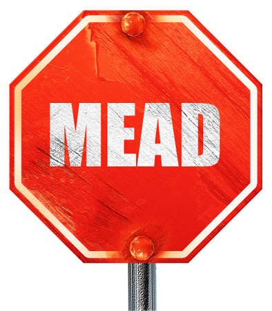 mead: mead, 3D rendering, a red stop sign