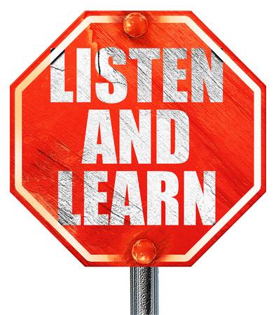 escuchar y aprender, 3D, una señal de stop roja