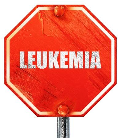 leucemia: leucemia, 3D, una señal de stop roja Foto de archivo