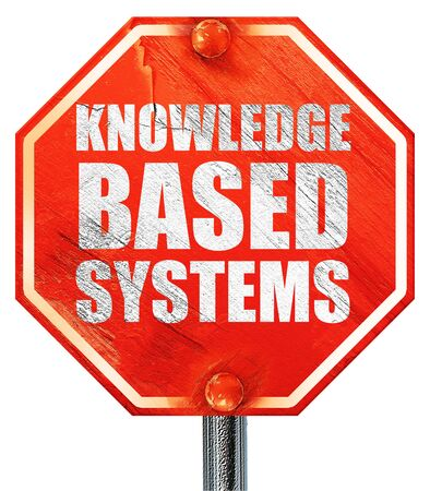 is based: knowledge based systems, 3D rendering, a red stop sign