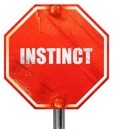 instinct: instinct, 3D rendering, a red stop sign Stock Photo