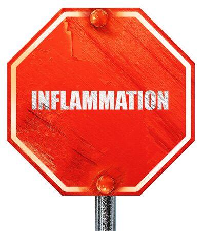 la inflamación, 3D, una señal de stop roja