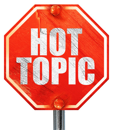 Hot Topic 3d Rendering A Red Stop Sign Stock Photo Picture And