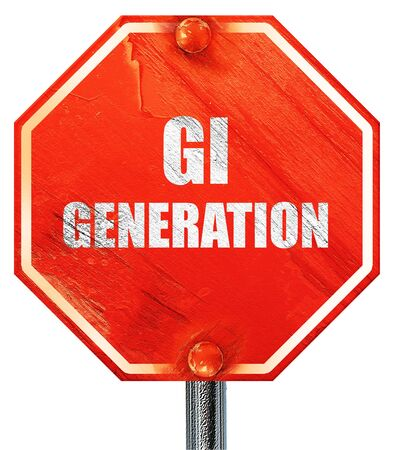 greatest: List of generations,The Lost Generation,The Greatest Generation,The Silent Generation., 3D rendering, a red stop sign