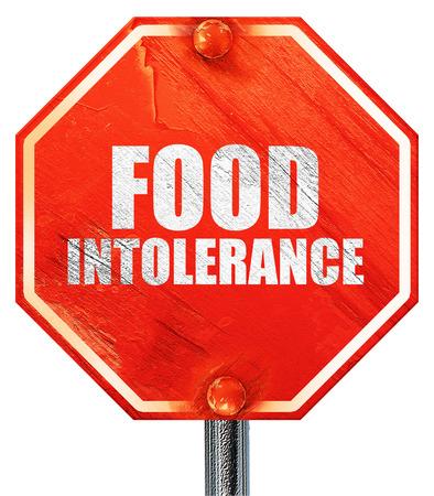 intolerancia: intolerancia a los alimentos, 3D, una señal de stop roja