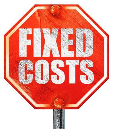 clavados: los costos fijos, 3D, una señal de stop roja Foto de archivo