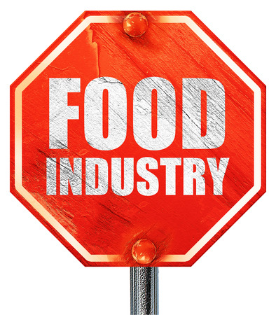food industry: food industry, 3D rendering, a red stop sign