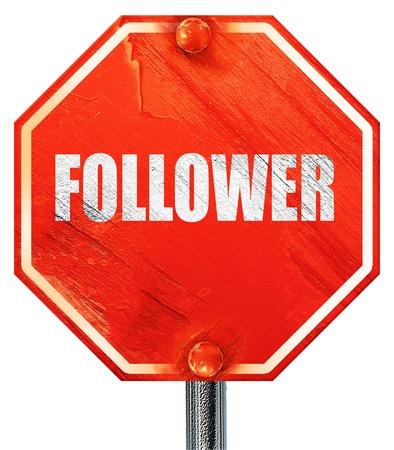 follower: follower, 3D rendering, a red stop sign
