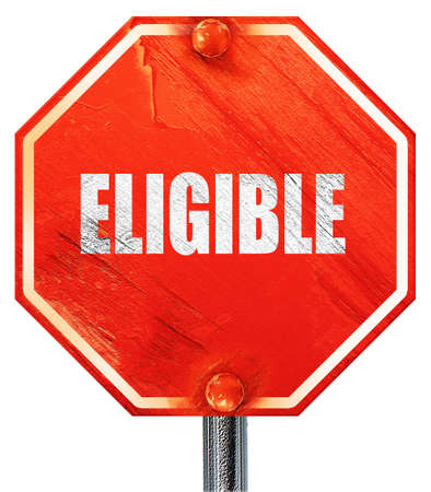 eligibility: eligible, 3D rendering, a red stop sign