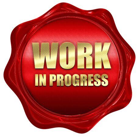Work in progress, 3D-Rendering, ein rotes Wachs-Siegel