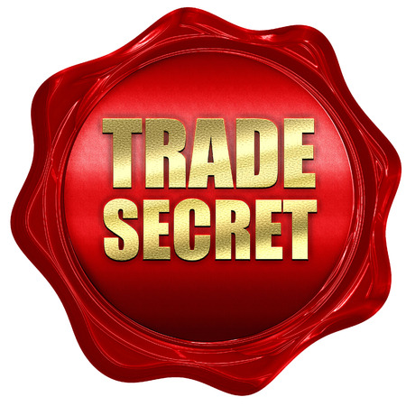 trade secret: trade secret, 3D rendering, a red wax seal Stock Photo