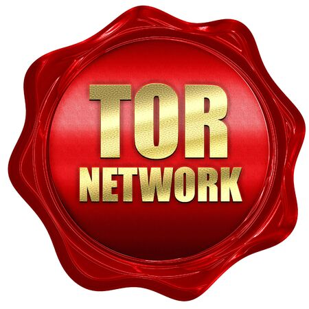 resisting: tor network, 3D rendering, a red wax seal
