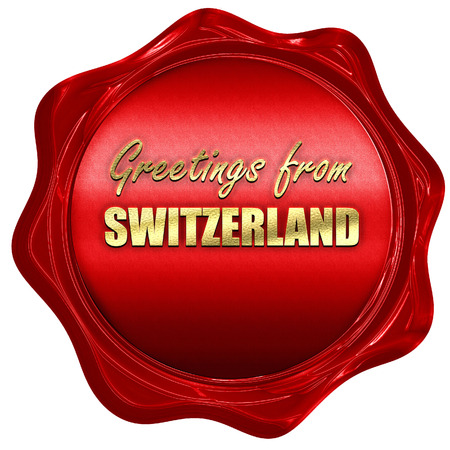 Greetings from switzerland card with some soft highlights 3d greetings from switzerland card with some soft highlights 3d rendering a red wax seal m4hsunfo