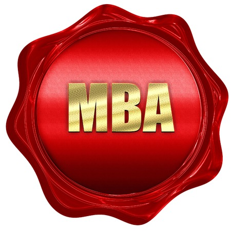 red wax: mba, 3D rendering, a red wax seal Stock Photo