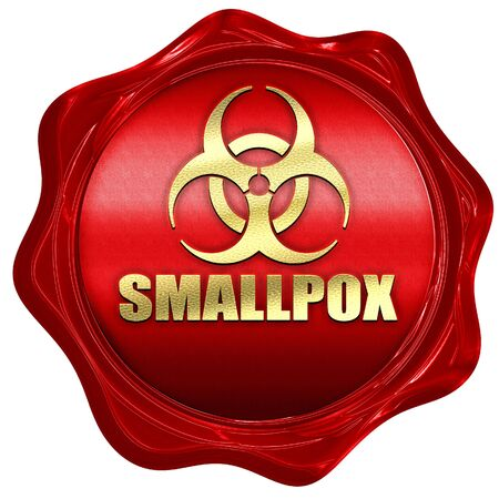 smallpox: smallpox concept background with some soft smooth lines, 3D rendering, a red wax seal