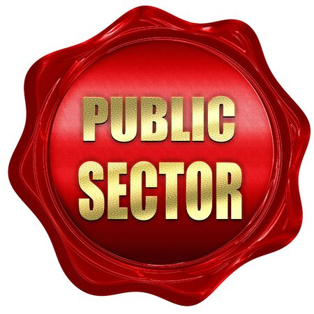 sector: public sector, 3D rendering, a red wax seal