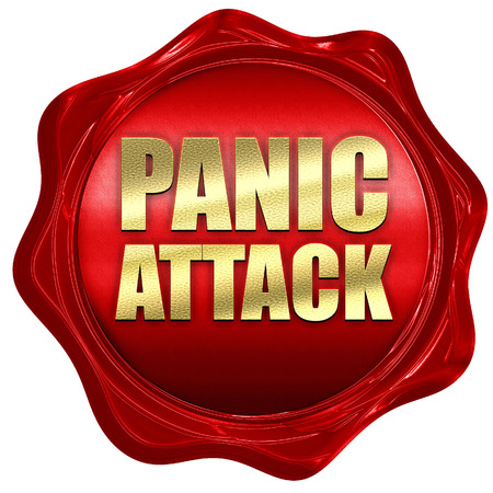 panic attack: panic attack, 3D rendering, a red wax seal Stock Photo