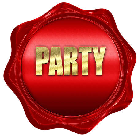 red wax: party, 3D rendering, a red wax seal