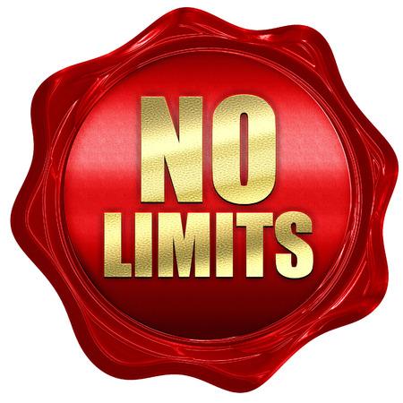 no limits: no limits, 3D rendering, a red wax seal Stock Photo