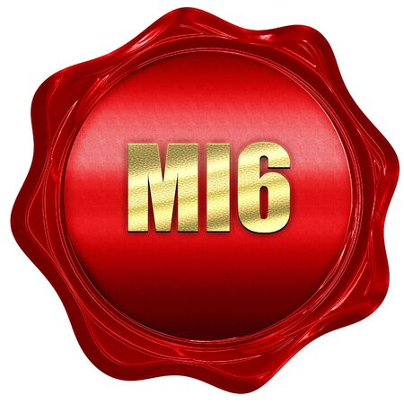 govt: mi6 secret service, 3D rendering, a red wax seal