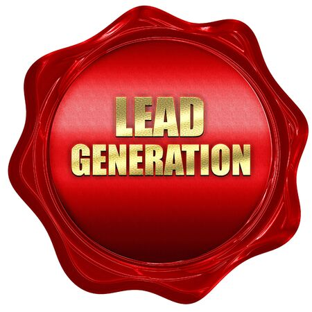 wax sell: lead generation, 3D rendering, a red wax seal