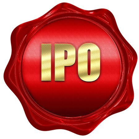 initial public offerings: ipo, 3D rendering, a red wax seal