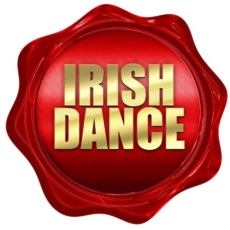 triskele: irish dance, 3D rendering, a red wax seal