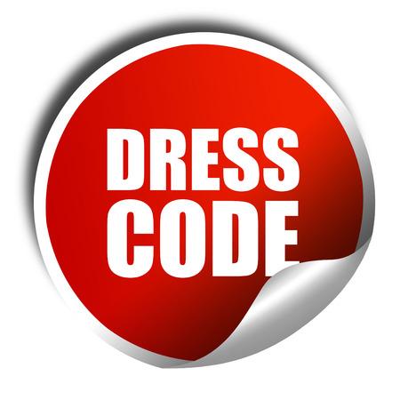 codice di abbigliamento, il rendering 3D, un adesivo rosso lucido Archivio Fotografico
