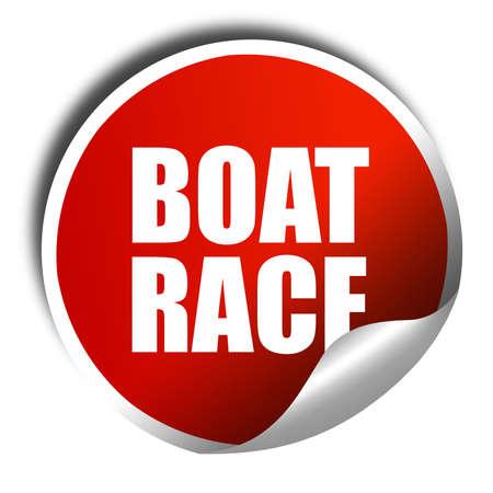 3d boat: boat race, 3D rendering, a red shiny sticker