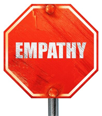 empatia: la empat�a, 3D, una se�al de stop roja