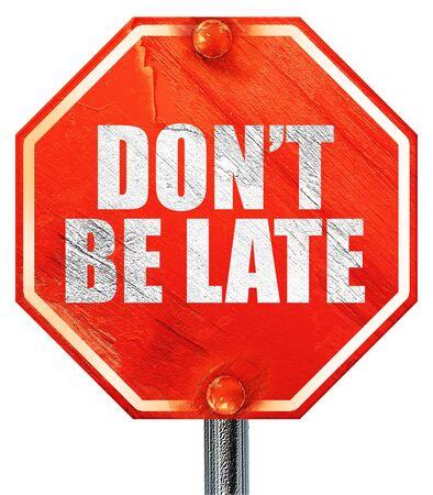 no llegar tarde, 3D, una señal de stop roja
