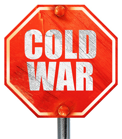 gorbachev: cold war, 3D rendering, a red stop sign