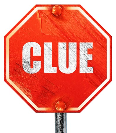 crime solving: clue, 3D rendering, a red stop sign Stock Photo