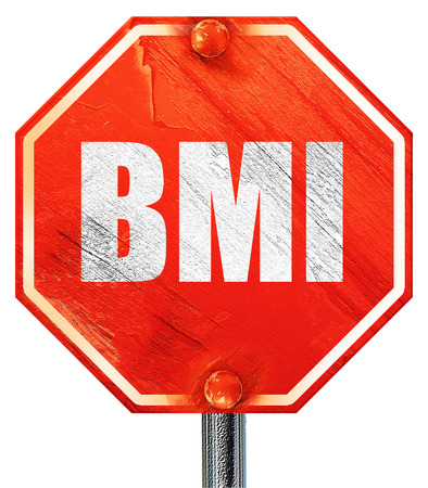 BMI: bmi, 3D rendering, a red stop sign