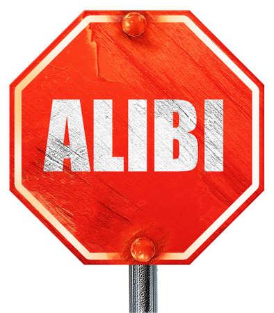 juror: alibi, 3D rendering, a red stop sign