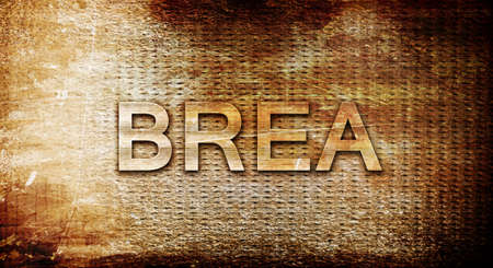brea: brea, 3D rendering, text on a metal backgroundnil
