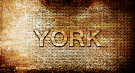 rusts: york, 3D rendering, text on a metal backgroundnil