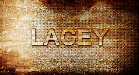 lacey: lacey, 3D rendering, text on a metal backgroundnil