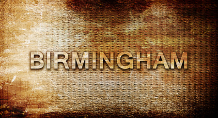 birmingham: birmingham, 3D rendering, text on a metal backgroundnil Stock Photo