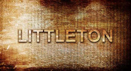 littleton: littleton, 3D rendering, text on a metal backgroundnil Stock Photo