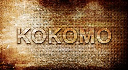 rusts: kokomo, 3D rendering, text on a metal backgroundnil