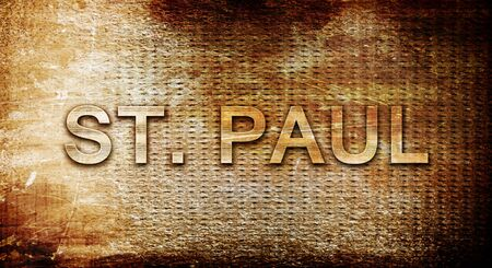 paul: st. paul, 3D rendering, text on a metal backgroundnil