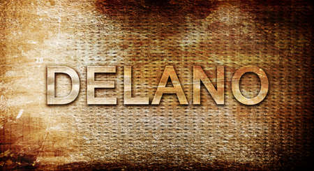 delano, 3D rendering, text on a metal backgroundnil