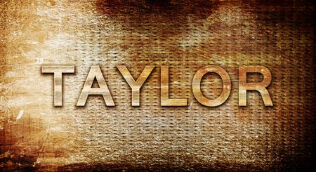 taylor: taylor, 3D rendering, text on a metal backgroundnil