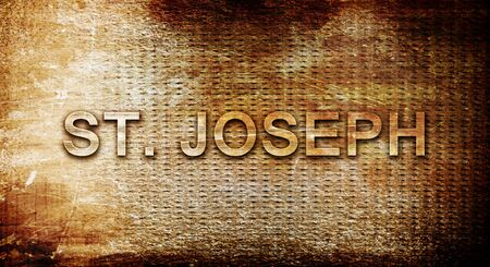 st  joseph: st. joseph, 3D rendering, text on a metal background Stock Photo