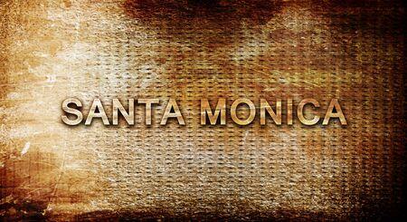 santa monica: santa monica, 3D rendering, text on a metal background