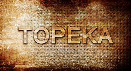 rusts: topeka, 3D rendering, text on a metal background Stock Photo