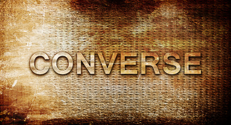 converse: converse, 3D rendering, text on a metal background